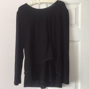 Narciso Rodriguez long sleeve black tiered blouse